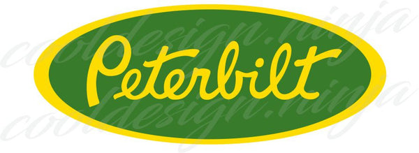 Peterbilt Emblem Skins - Yellow and Green x 3