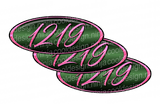 Pink and Green Peterbilt Emblem Skins