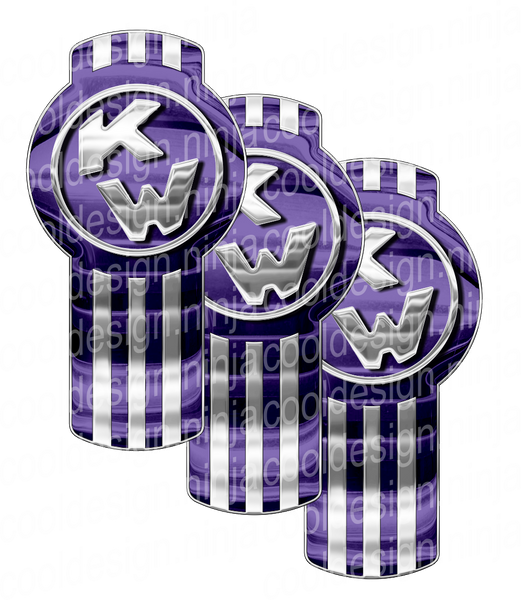 Lighter Shade Of Purple Kenworth Emblem Skin Kit