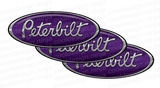 Purple and White Peterbilt Emblem Skins