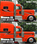 389 Peterbilt Dark Chrome Stripe Kits