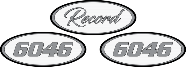 3-Pack Medium Grey/White Record Peterbilt Emblem Skins