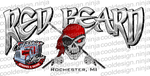 Red Beard Pontoon Boat Decals