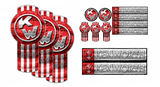 Red Kenworth Emblem Skin Kit