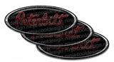 Red and Black Peterbilt Emblem Skins