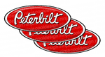 Red and White Peterbilt Emblem Skins