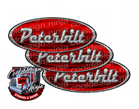 Red and White Shotgun Peterbilt Emblem Skins