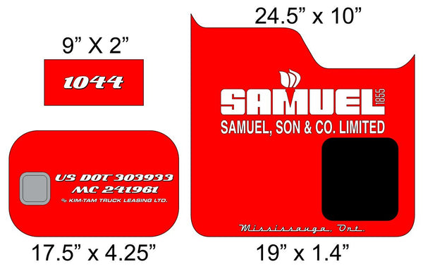 Samuel & Sons Door and Bunk Lettering