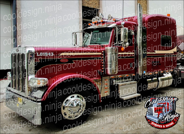 Santafe Seminole Peterbilt Stripe Kit