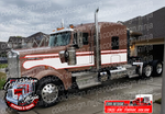 Off White and Red Kenworth W9 Seminole Stripe