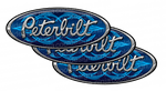 In Stock Special - Blue Pinstripe Peterbilt Emblem Skin - Hood Kit
