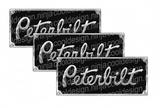 Square Body Peterbilt Decal