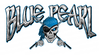 24 x 12 Blue Pearl Pontoon Boat Decals