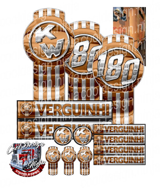 Unit 180 Verguinhi Kenworth Emblem Skin Kit