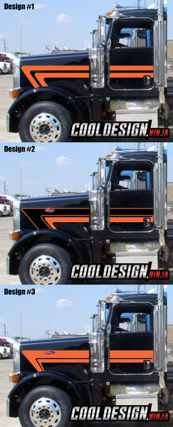 389 Daycab Peterbilt Leading Wedge Stripe Kits