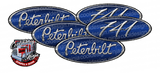 Viper Blue Unit 471 Peterbilt Emblem Skins