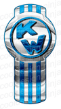 3-Pack White/Blue Kenworth Emblem Skins