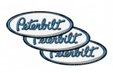 White and Blue Peterbilt Emblem Skins