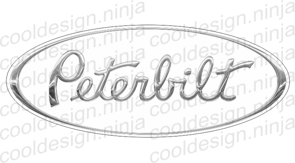 Snow White Peterbilt Emblem Skins 3-Pack