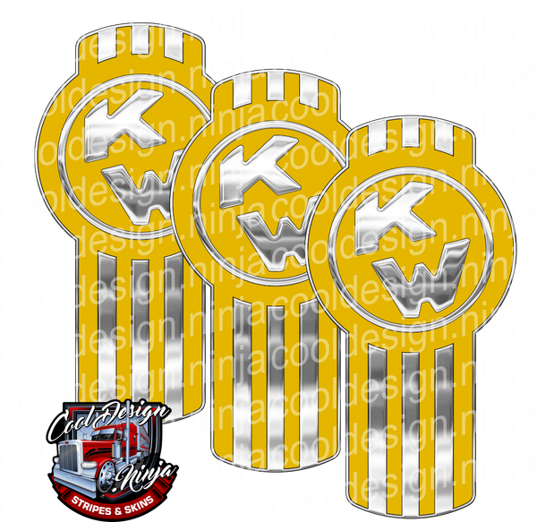 Vette Yellow Kenworth Emblem Skin Kit