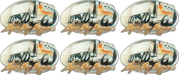 Bayou Big Biggers Hard Hat Decals
