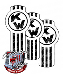 Black and White Kenworth Emblem Skin Kit