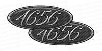 Carbon Fibre Unit Number Emblem Skins