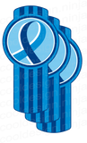3-Pack Kenworth Colon Cancer Awareness Emblem Skins