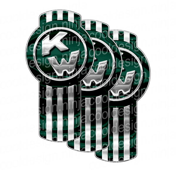 Dark Green Kenworth Emblem Skin Kit