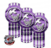 Electric Purple Kenworth Emblem Skin Kit