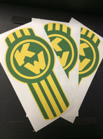 In-Stock Special - 3-Pack Yellow and Green Kenworth Emblem Skins