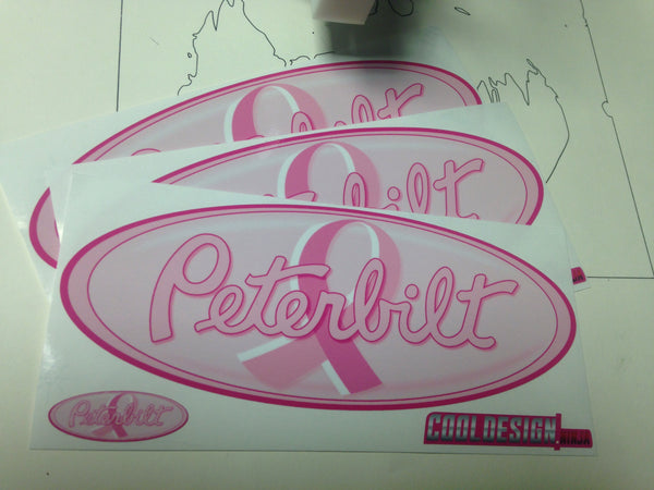 In-Stock Special - Pink Ribbon Peterbilt Emblem Skins