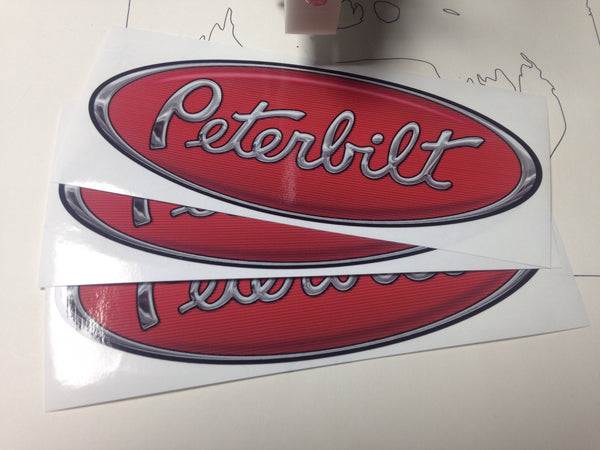 In-Stock Special - Red/Chrome Peterbilt Emblem Skins
