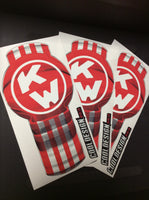 In-Stock Special - 3-Pack Red/White Kenworth Emblem Skins