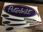 In-Stock Special - Purple and Chrome Peterbilt Emblem Skin 3-Pack