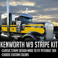 Custom Kenworth W9 Seminole Stripe Kit