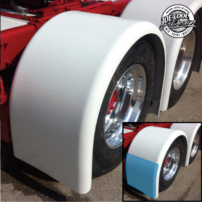 "24"" Fender Stone Guard - Fiberglass Rear Hoop Fender"