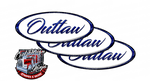 White and Viper Blue Outlaw Peterbilt Emblem Skins