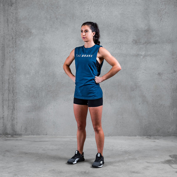 THE BRAVE - UNISEX SIGNATURE TANK 2.0 - AIRFORCE BLUE