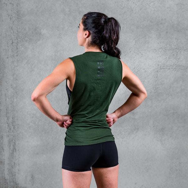THE BRAVE - UNISEX SIGNATURE TANK 2.0 - DARK OLIVE
