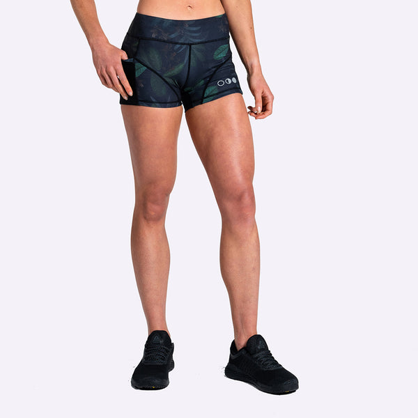 The Brave - Women's High Tide Booty Shorts - Safari