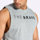 The Brave - Unisex Signature Tank - Light Grey Marl