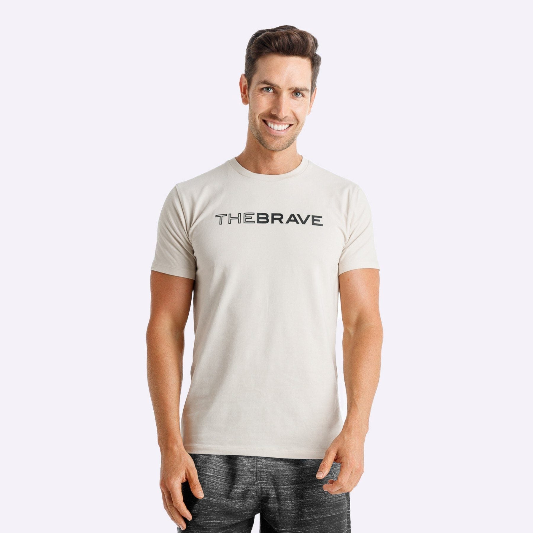 The Brave - Men's Waverider T-Shirt - Stone/Black