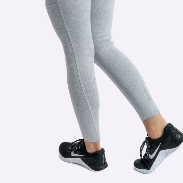 Women's Apparel - The Brave - Elevate 7/8th Tights - Light Grey Marle