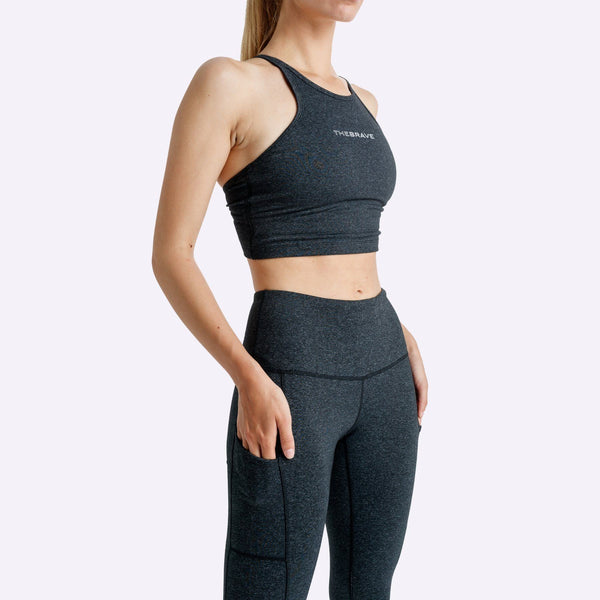 Women's Apparel - The Brave - Elevate Crop Top - Black Marle