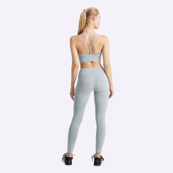 Women's Apparel - The Brave - Elevate Crop Top - Light Grey Marle