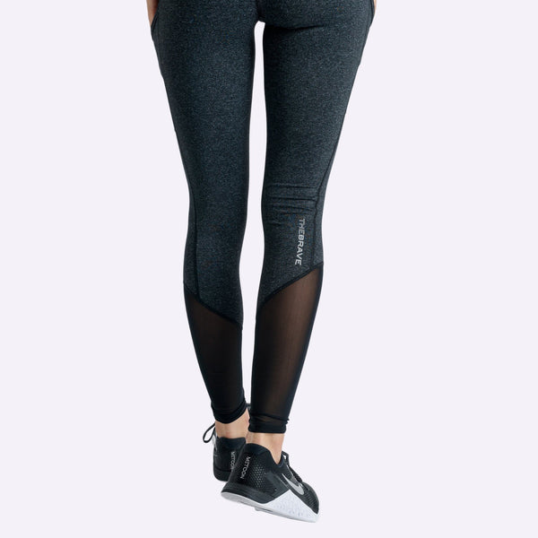Women's Apparel - The Brave - Elevate Full Length Tights - Black Marle