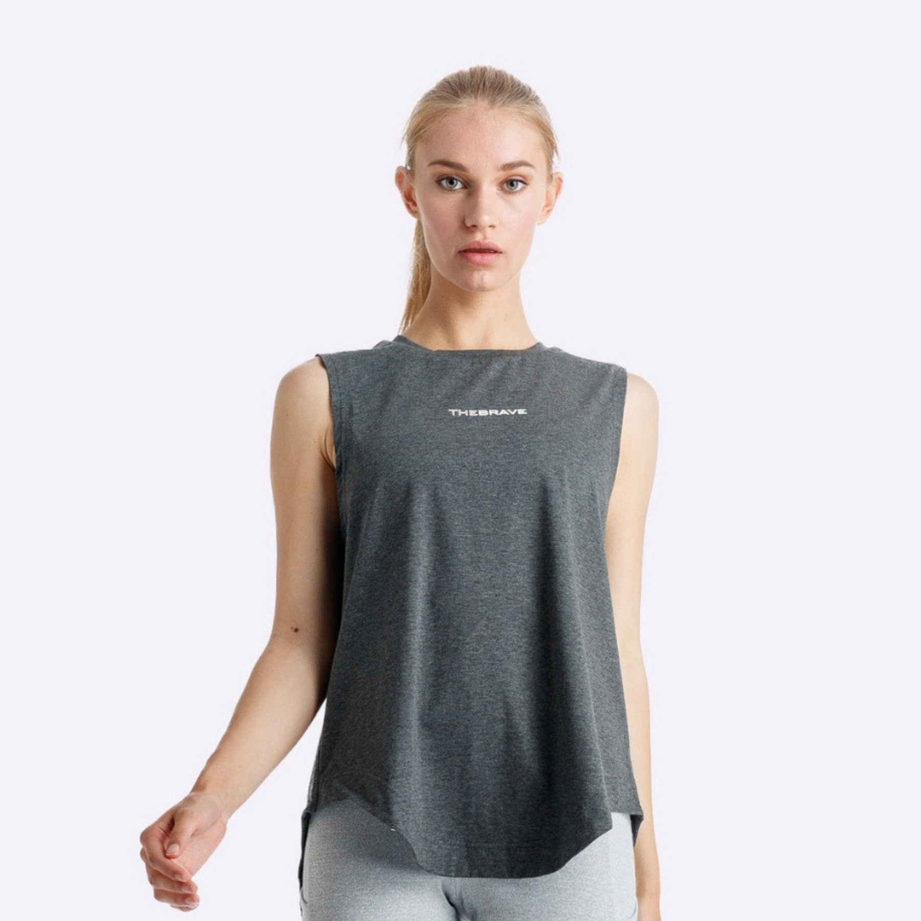 The Brave - Windrifter Tank - Charcoal Marle