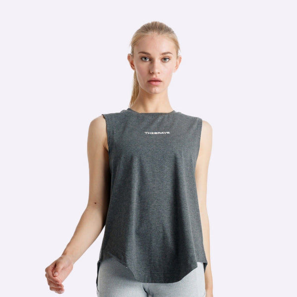 Women's Apparel - The Brave - Windrifter Tank - Charcoal Marle