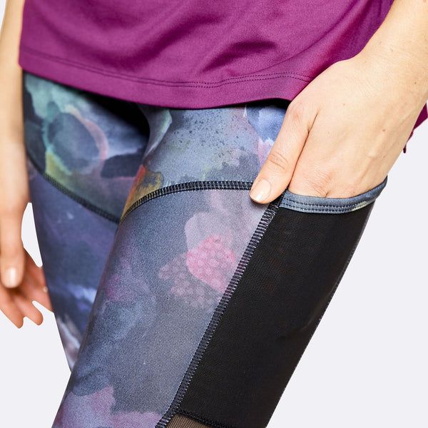 Women's Apparel - The Brave - Women's 7/8 Length Tights - Watercolour